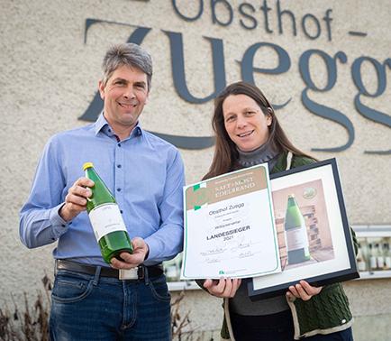 Dreifach-Landessieger für Apfelsaftspezialisten