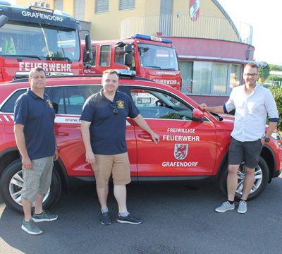 Neues Mehrzweckfahrzeug für die FF Grafendorf