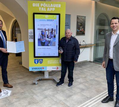 """CIVITAS-Award 2020: 1. Platz für das """"Pöllauer Tal App"""" der Privatstiftung Sparkasse Pöllau"""