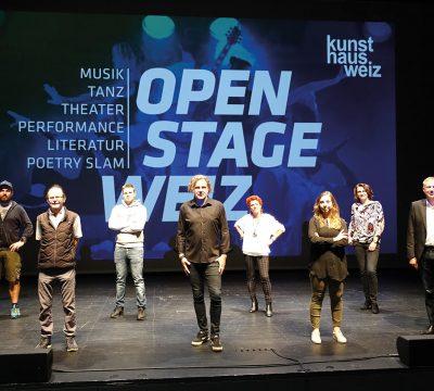 """Weiz: """"open stage"""" im Kunsthaus Weiz geht in die 2. Runde"""